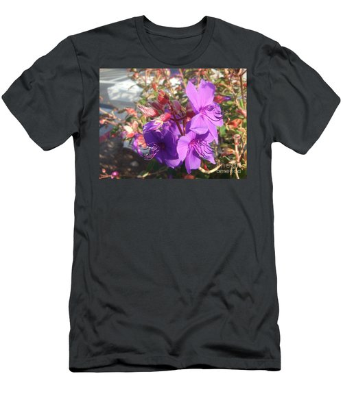 Men's T-Shirt (Slim Fit) featuring the photograph Lovely Purple Flower by Jasna Gopic