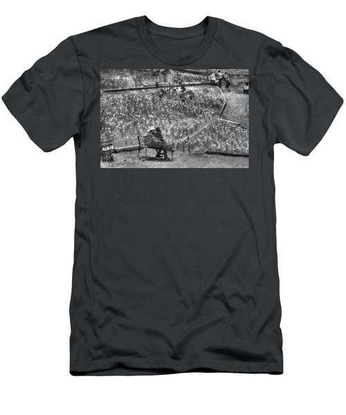 Lovers On Daffodil Hill Men's T-Shirt (Athletic Fit)