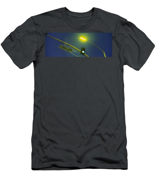 Low Angle View Of Traffic Light Men's T-Shirt (Athletic Fit)