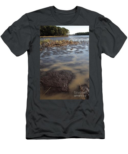 Low Tide At Blackwater Wildlife Refuge In Maryland Men's T-Shirt (Athletic Fit)