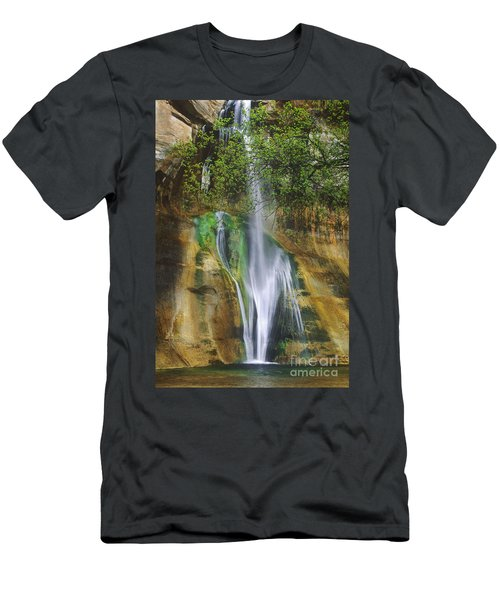 Lower Calf Creek Falls Escalante Grand Staircase National Monument Utah Men's T-Shirt (Athletic Fit)