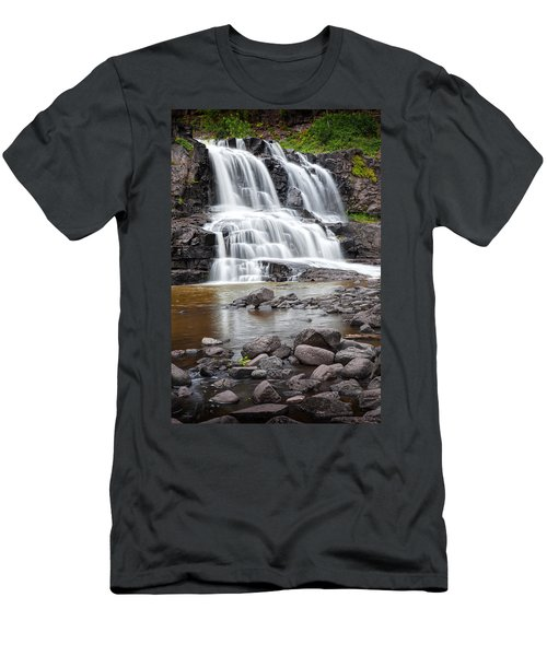 Lower Gooseberry Falls Men's T-Shirt (Slim Fit) by Randall Nyhof