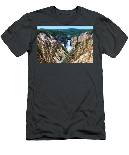 Lower Yellowstone Falls Men's T-Shirt (Athletic Fit)