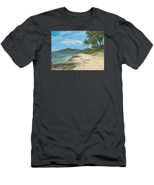 Lualualei Beach Men's T-Shirt (Athletic Fit)