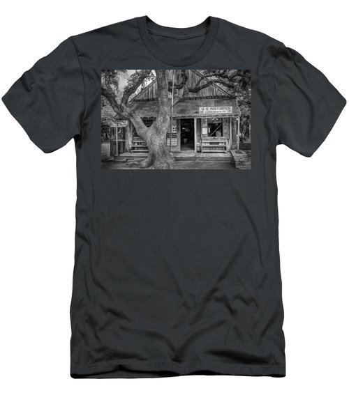 Luckenbach 2 Black And White Men's T-Shirt (Athletic Fit)