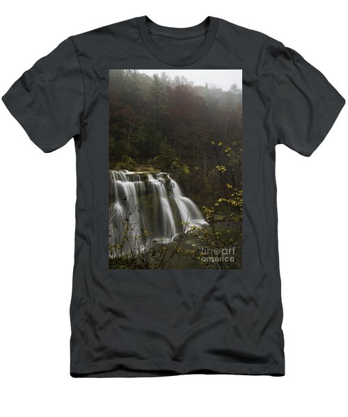 Ludlowville Falls In Autumn I Men's T-Shirt (Athletic Fit)