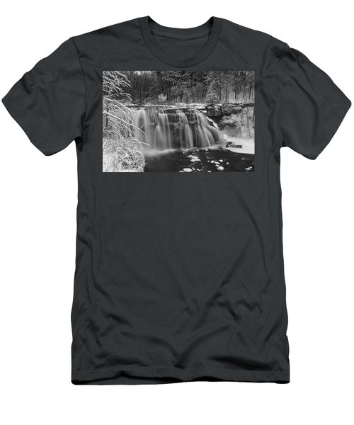Ludlowville Falls In Winter I Men's T-Shirt (Athletic Fit)