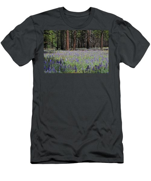 Lupines In Yosemite Valley Men's T-Shirt (Slim Fit) by Lynn Bauer