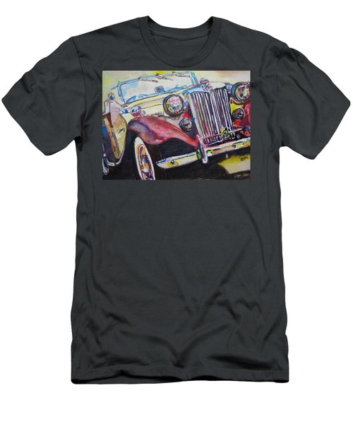M G Car  Men's T-Shirt (Slim Fit) by Anna Ruzsan
