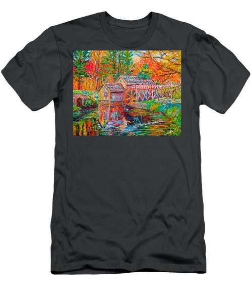 Mabry Mill In Fall Men's T-Shirt (Athletic Fit)