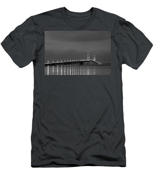 Mackinac Bridge Black And White Men's T-Shirt (Athletic Fit)