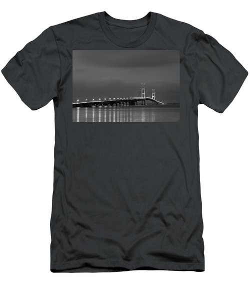 Mackinac Bridge Black And White Men's T-Shirt (Athletic Fit)