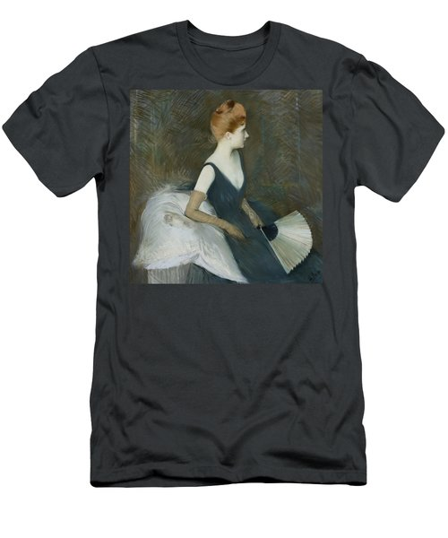 Madame Marthe Letellier Sitting On A Sofa Men's T-Shirt (Athletic Fit)