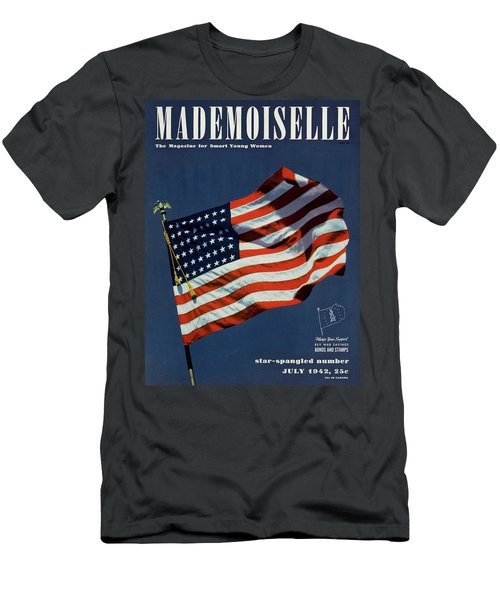 Mademoiselle Cover Featuring The U.s. Flag Men's T-Shirt (Athletic Fit)