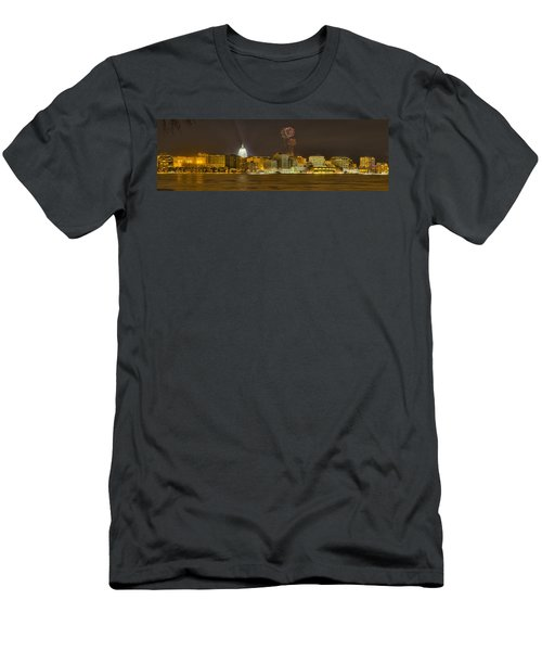 Madison Skyline New Years Eve Men's T-Shirt (Athletic Fit)