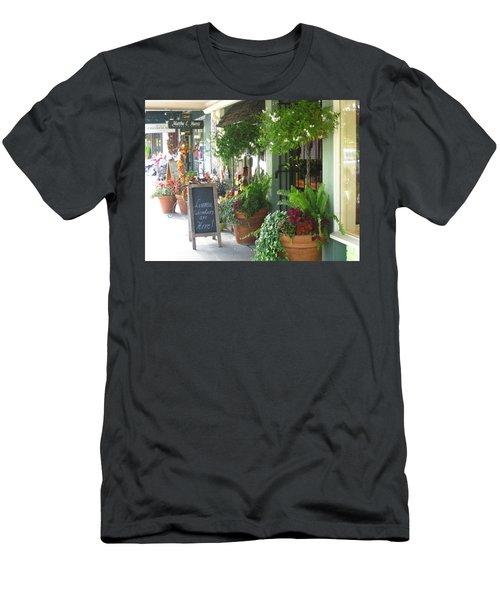 Madison Valley Street Scene 2 Men's T-Shirt (Slim Fit) by David Trotter