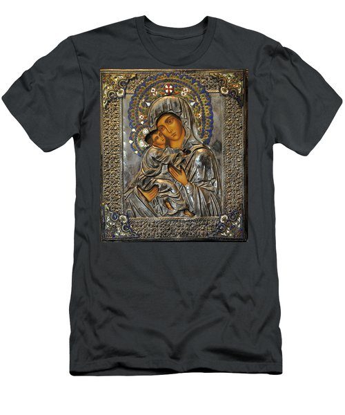 Madonna And Child Men's T-Shirt (Slim Fit) by Jay Milo