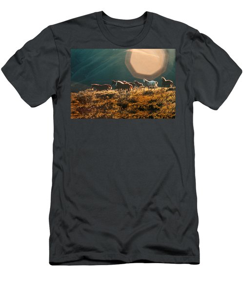 Magical Herd Men's T-Shirt (Slim Fit) by Melinda Hughes-Berland