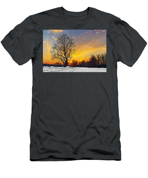 Magical Winter Sunset Men's T-Shirt (Athletic Fit)