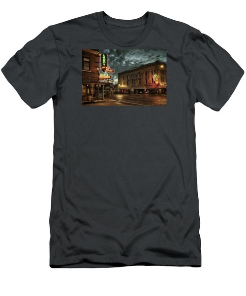 Main And Exchange Men's T-Shirt (Slim Fit) by Joan Carroll