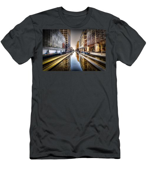 Main Street Square Men's T-Shirt (Slim Fit) by David Morefield
