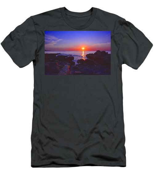 Maine Coast Sunrise Men's T-Shirt (Athletic Fit)