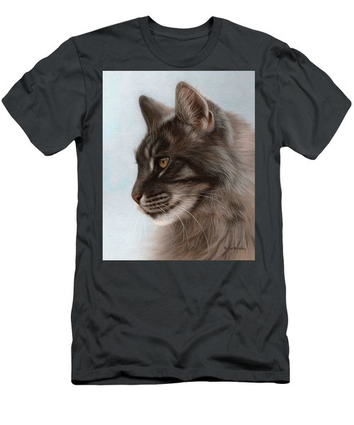 Maine Coon Painting Men's T-Shirt (Athletic Fit)