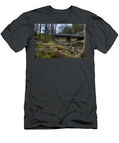 Majestic Bridge In The Woods Men's T-Shirt (Athletic Fit)