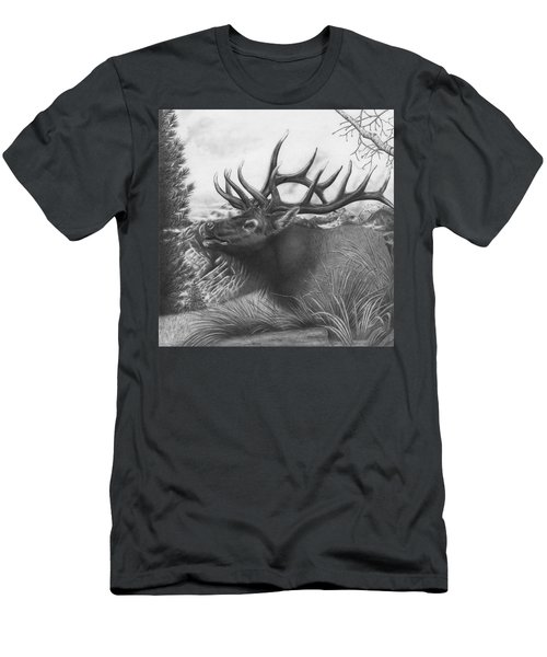 Majestic Bull Elk Men's T-Shirt (Athletic Fit)