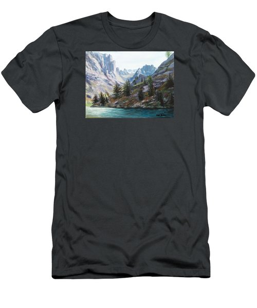 Majestic Montana Men's T-Shirt (Slim Fit) by Patti Gordon