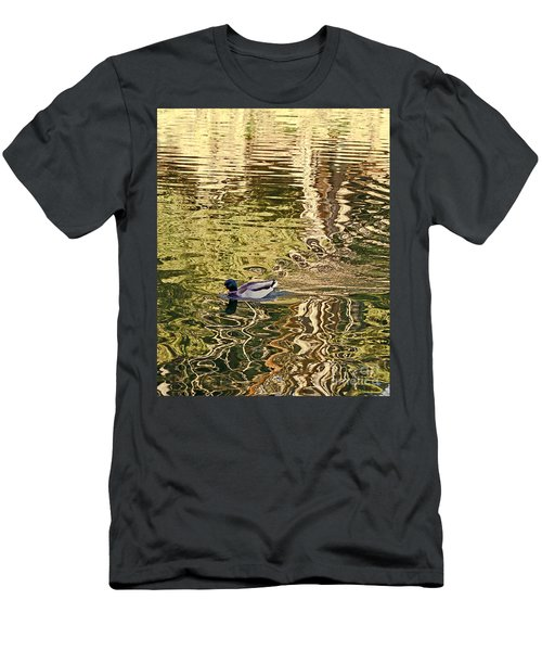 Mallard Painting Men's T-Shirt (Athletic Fit)