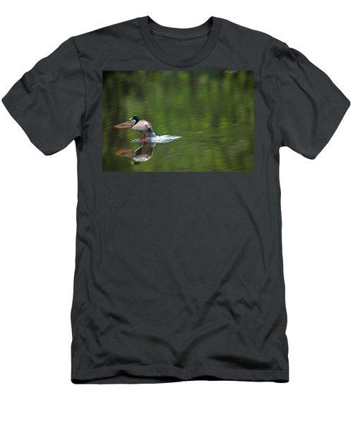 Mallard Splash Down Men's T-Shirt (Athletic Fit)
