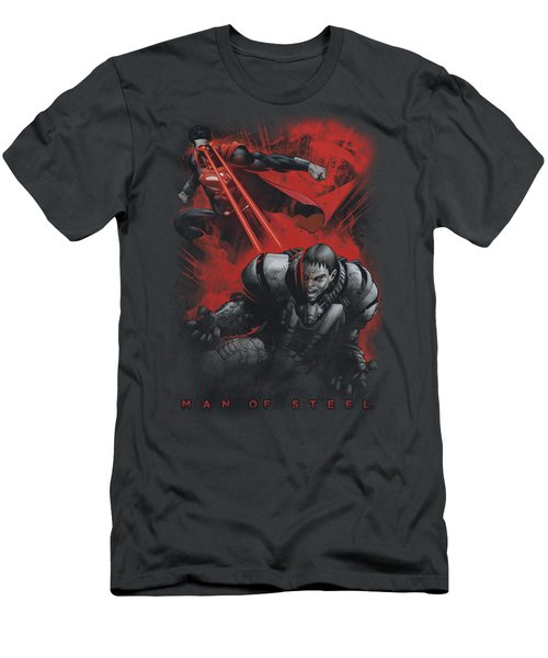 Man Of Steel - Fire Fight Men's T-Shirt (Athletic Fit)