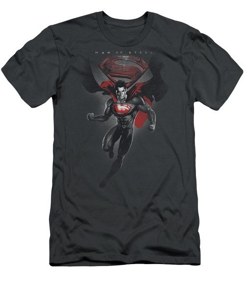 Man Of Steel - Mos Distressed Men's T-Shirt (Athletic Fit)