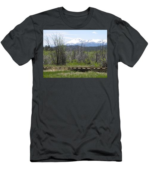 Men's T-Shirt (Athletic Fit) featuring the photograph Lake Manitou Sp Woodland Park Co by Margarethe Binkley