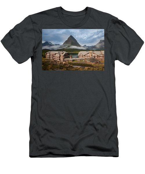 Many Glacier Hotel Men's T-Shirt (Athletic Fit)