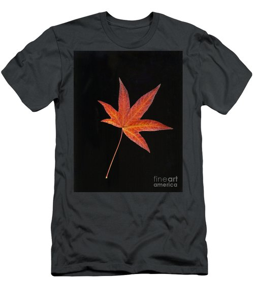 Maple Leaf On Black 2 Men's T-Shirt (Athletic Fit)