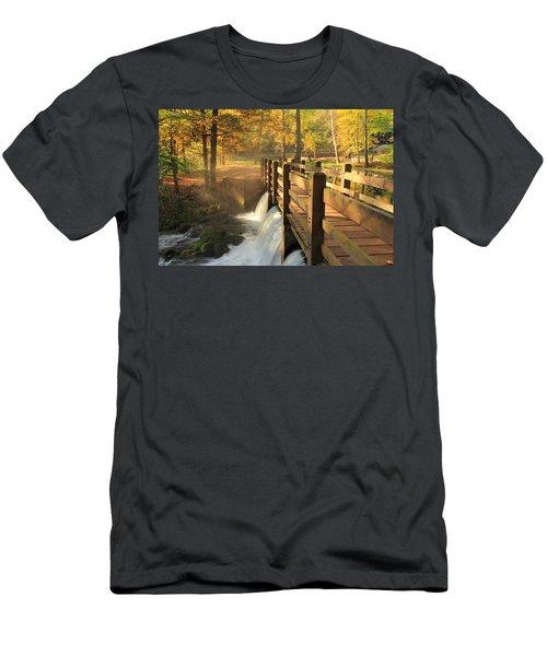Maramec Bridge And Falls Men's T-Shirt (Athletic Fit)