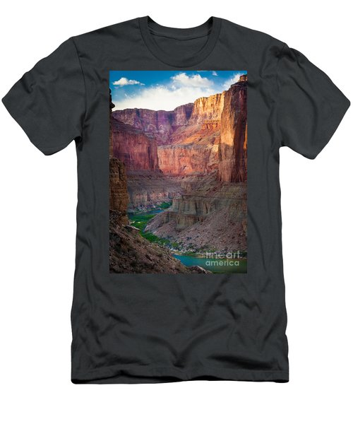 Marble Cliffs Men's T-Shirt (Slim Fit) by Inge Johnsson