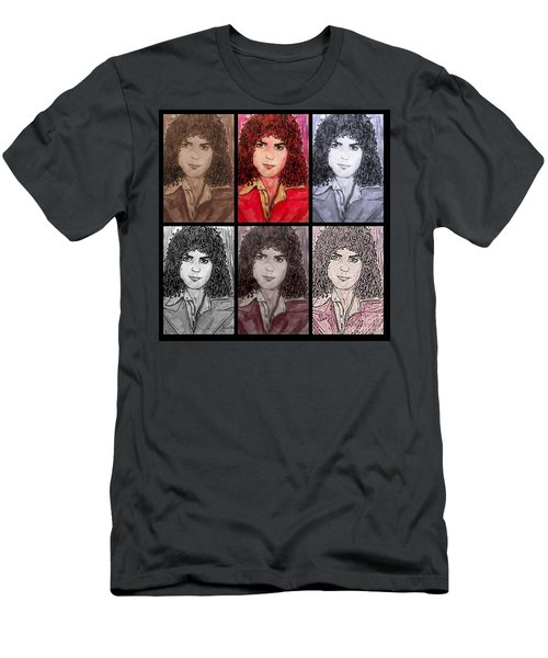 Marc Bolan Glam Rocker Collage Men's T-Shirt (Athletic Fit)