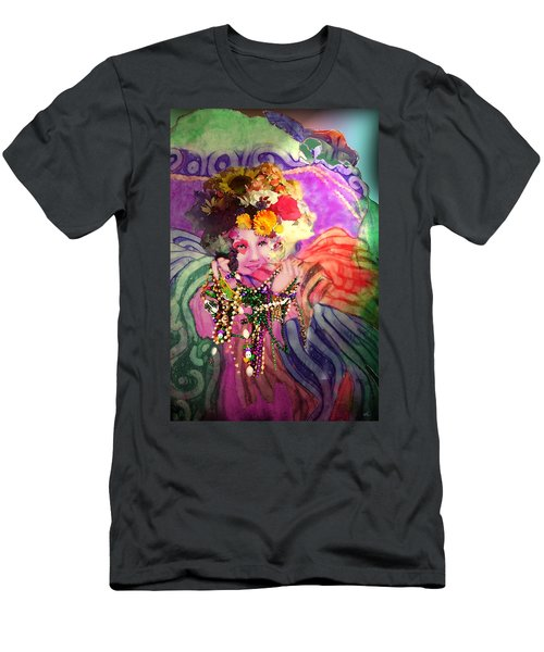 Mardi Gras Queen Men's T-Shirt (Athletic Fit)