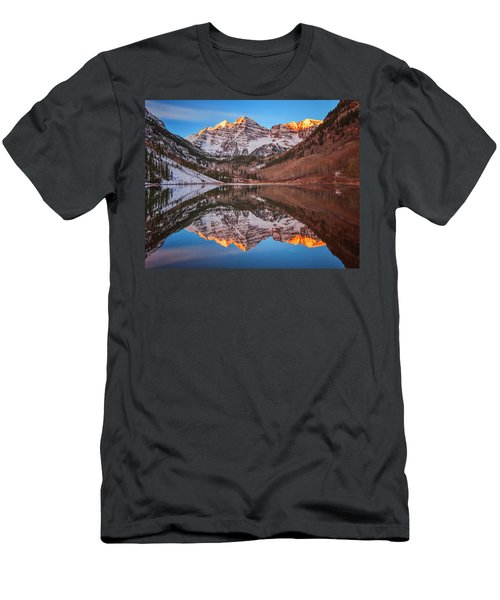 Maroon Bells Alpenglow Men's T-Shirt (Athletic Fit)
