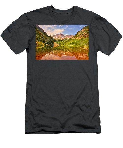 Maroon Bells Summer Men's T-Shirt (Athletic Fit)