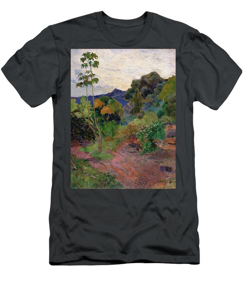 Martinique Landscape, 1887 Oil On Canvas Men's T-Shirt (Athletic Fit)