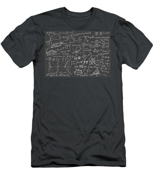 Maths Blackboard Men's T-Shirt (Athletic Fit)