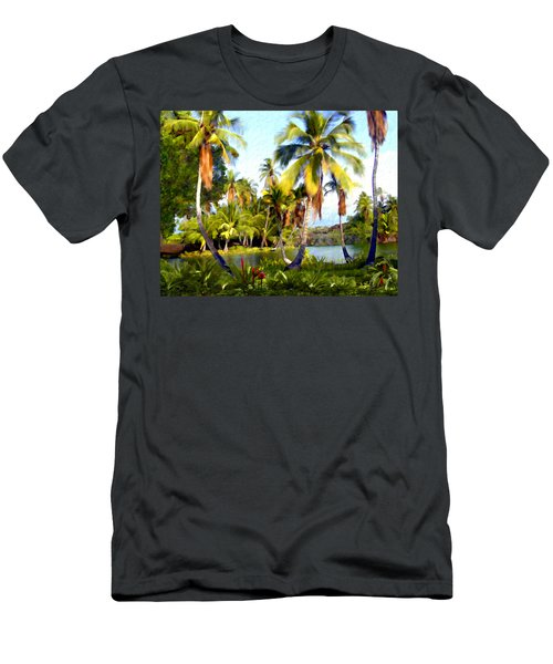 Mauna Lani Fish Ponds Men's T-Shirt (Athletic Fit)