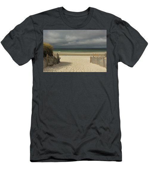 Men's T-Shirt (Slim Fit) featuring the photograph Mayflower Beach Storm by Amazing Jules