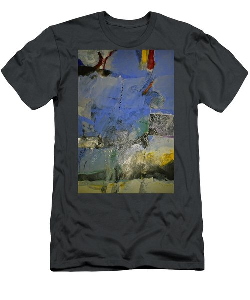Men's T-Shirt (Slim Fit) featuring the painting Meatier Illogical Cold Front by Cliff Spohn