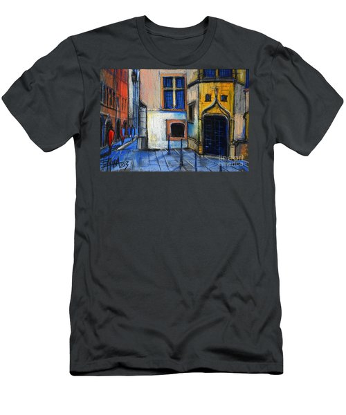 Medieval Architecture In Vieux Lyon France Men's T-Shirt (Athletic Fit)