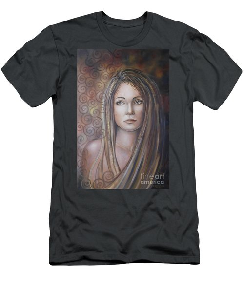 Melancholy 080808 Men's T-Shirt (Slim Fit) by Selena Boron